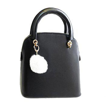 Elegant Pendant and Solid Color Design Tote Bag For Women - BLACK BLACK