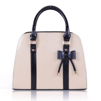 Fashion Candy Color and Bow Design Tote Bag For Women
