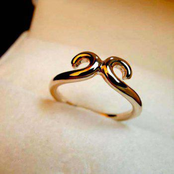 Hollow Out Design Alloy Ring