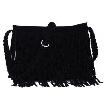 Fashion Fringe and Weaving Design Crossbody Bag For Women
