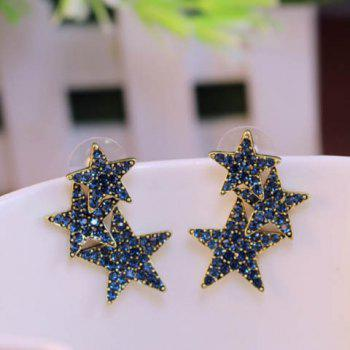 Pair of Star Shape Stud Earrings - COLOR ASSORTED COLOR ASSORTED