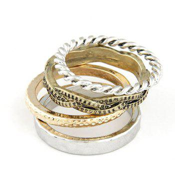 A Suit of Twisted Round Rings - AS THE PICTURE AS THE PICTURE