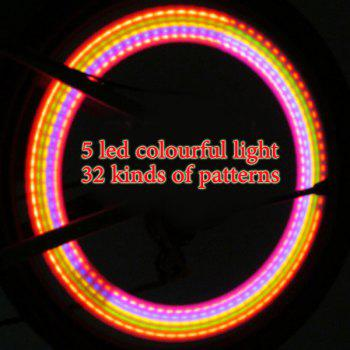 YY 601A 5LED Bicycle Hot Wheels Lamp Safety Flash LED Light - 32 Pattern Changes