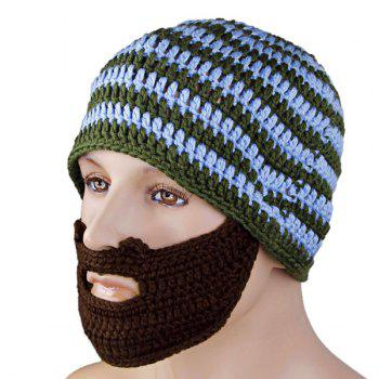 Valentine Unique Funny Woolen Hat and False Beard Masks Pure Manual - COLORMIX