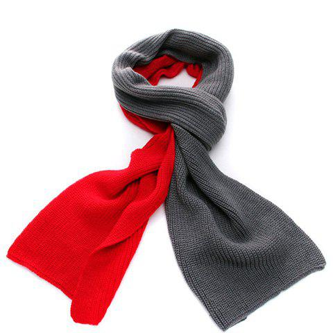 Warm Color Patchwork Long Scarf For Winter For Men