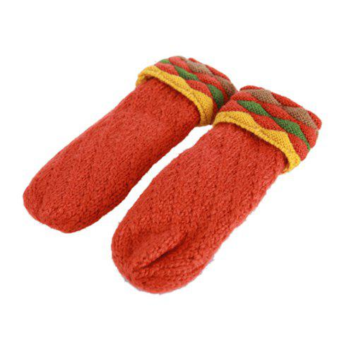 Pair of Cute Candy Color Knitting Yarn Winter Gloves For Women -  COLOR ASSORTED