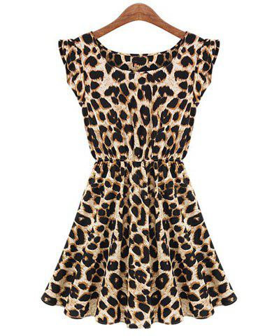 Women's Leisure Slim Fit Leopard Print Dress