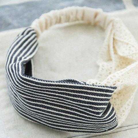 Fashion Striped Wide Hairband For Women - AS THE PICTURE