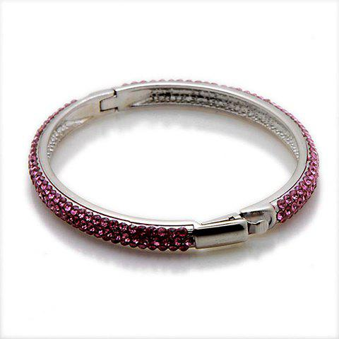 Vintage Colored Rhinestone Cuff Bracelet For Women - AS THE PICTURE