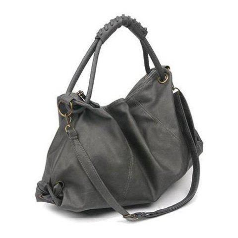 Stylish PU Leather and Solid Color Design Shoulder Bag For Women - GRAY