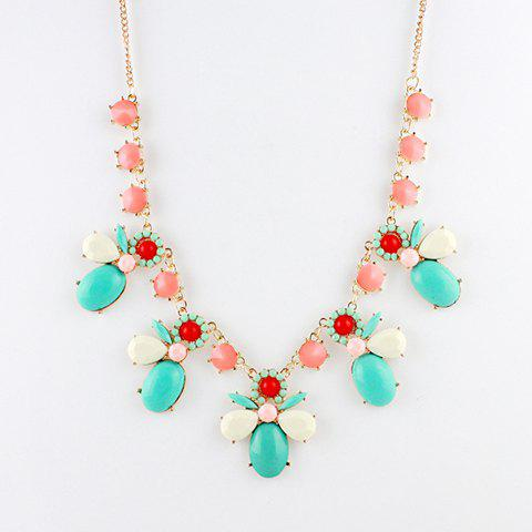 Sweet Light Color Pendant Alloy Necklace For Women - COLOR ASSORTED
