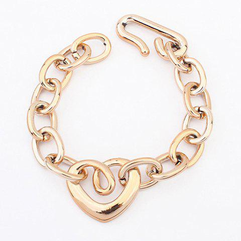 Hollow Out Heart Shape Bracelet - AS THE PICTURE