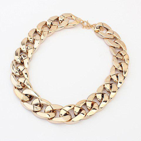 Simple Chic Style Thick Chain Necklace For Women