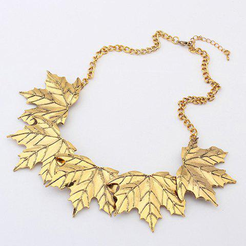 Characteristic Maple Leaf Shape Alloy Necklace - GOLD