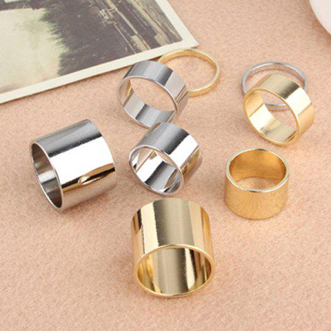 Alloy Knuckle Rings - COLOR ASSORTED ONE SIZE