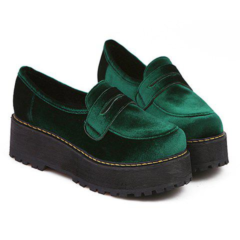 stylish suede and toe design s platform shoes