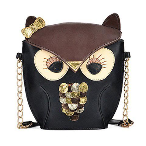Sweet Animal Pattern and Chains Design Shoulder Bag For Women