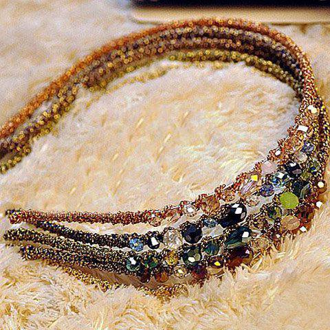 Stylish Fashionable Rhinestone Decorated Colorful Hairband For Women - COLOR ASSORTED