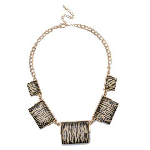 Fashion Zebra-stripe Pendant Alloy Necklace For Women - AS THE PICTURE