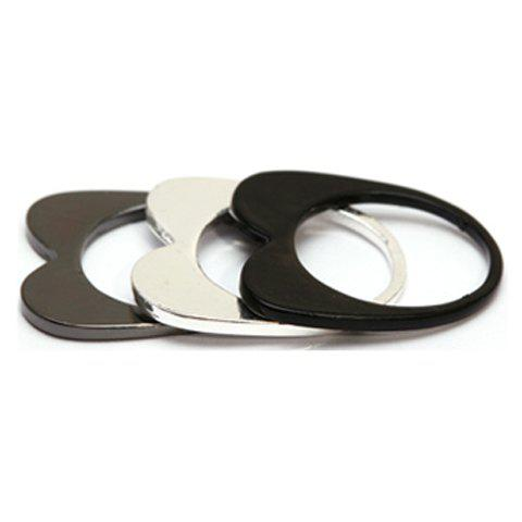 3PCS of Simple Hollow Rings For Women - AS THE PICTURE ONE SIZE