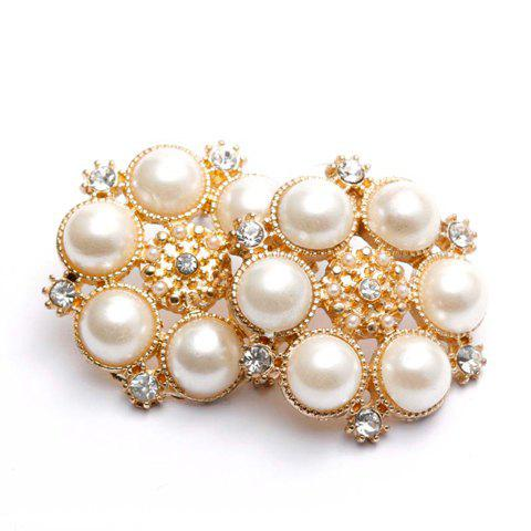 Pair of Gorgeous Diamante Faux Pearl Earrings For Women - AS THE PICTURE