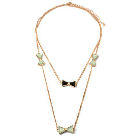 Chic Colored Butterfly Pendant Multilayered Alloy Necklace For Women - COLOR ASSORTED