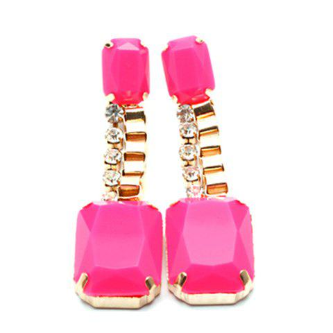Pair of Fluorescence Color Pendant Earrings For Women - COLOR ASSORTED