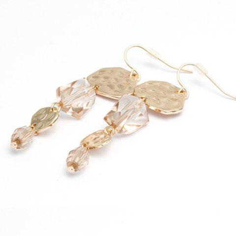 Pair of Cute Faux Crystal Bead Embellished Alloy Earrings For Women
