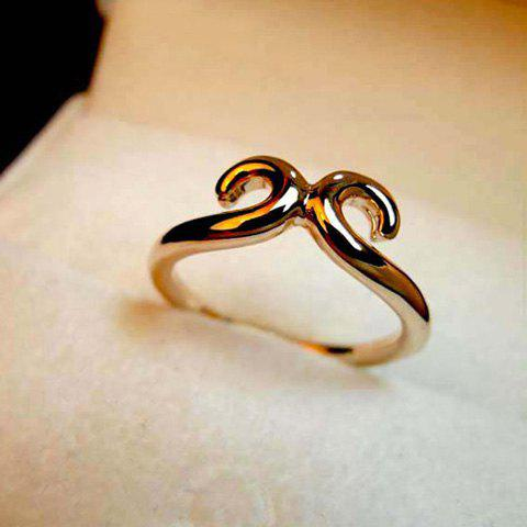 Simple Hollow Design Alloy Ring For Women
