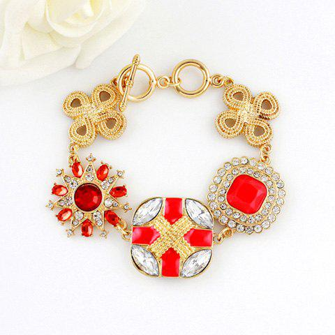 Rhinestoned Multielement Alloy Bracelet - AS THE PICTURE