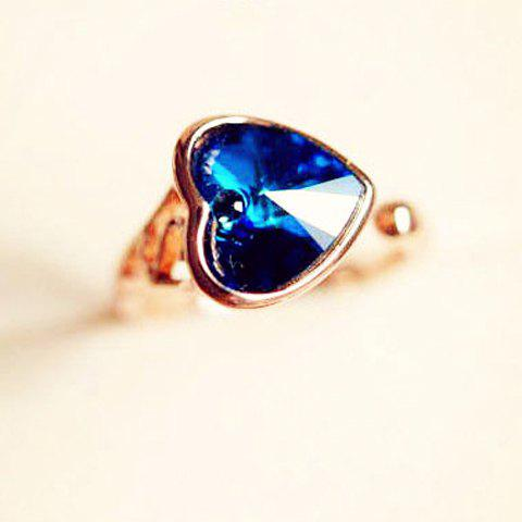 Exquisite Heart Shape Faux Gemstone Ring For Women - AS THE PICTURE ONE SIZE