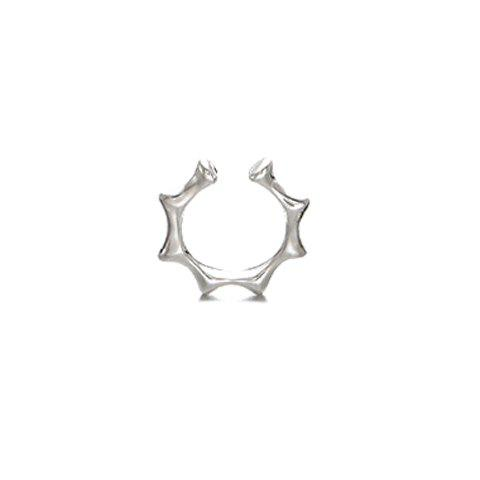 Simple Alloy Cuff Ring For Women