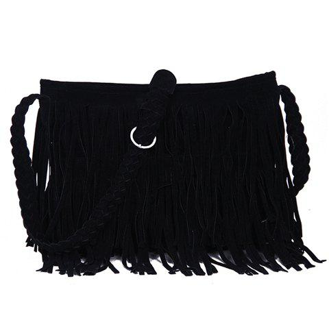 Fashion Fringe and Weaving Design Crossbody Bag For Women fashion women s crossbody bag with fringe and weaving design