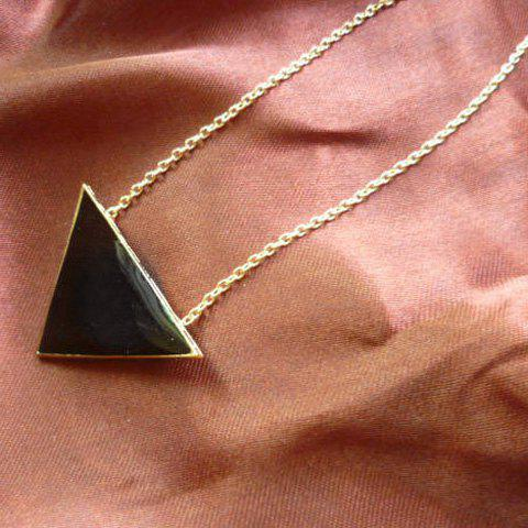 Faux Gem Triangle Pendant Necklace - COLOR ASSORTED