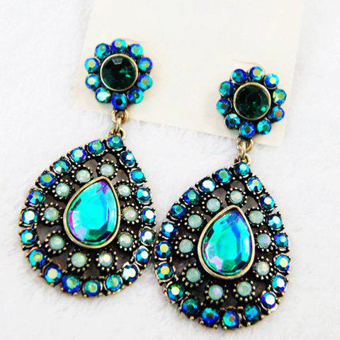 Pair of Exquisite Color Intrigue Diamante Earrings For Women