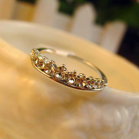 Classic Various Rhinestone Embellished Alloy Ring For Women - SILVER ONE SIZE