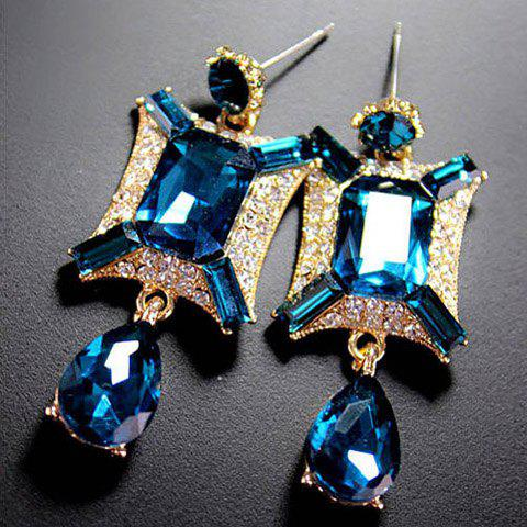Pair of Delicate Retro Rhinestone Drop Pendant Earrings For Women - COLOR ASSORTED