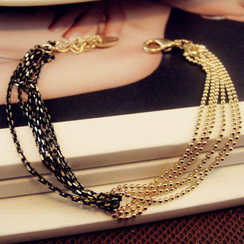 Simple Chic Style Bicolor Multi-Layered Bracelet For Women
