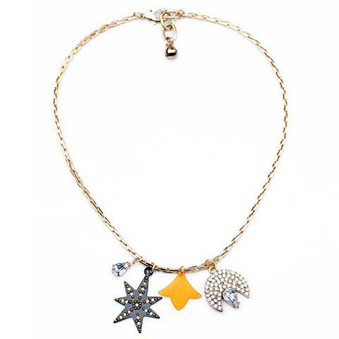 Hot Sale Star and Moon Shape Pendant Necklace - AS THE PICTURE