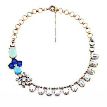 Faux Gem Design Flower Shape Necklace - AS THE PICTURE