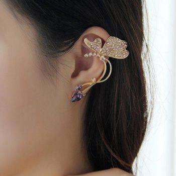 One Piece of Butterfly Shape Clip Earring - GOLD GOLD