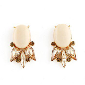Pair of Fish Shape Faux Gemstone Earrings