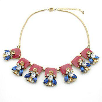 Retro Faux Crystal Firefly Pendant Alloy Necklace For Women