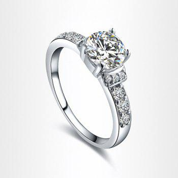 Circle Rhinestone Ring - AS THE PICTURE AS THE PICTURE