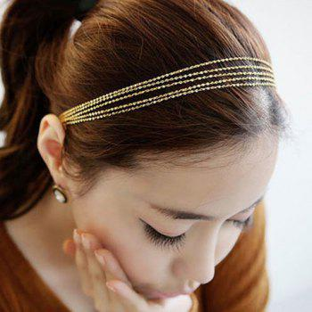 Versatile Golden Multilayered Alloy Hairband For Women