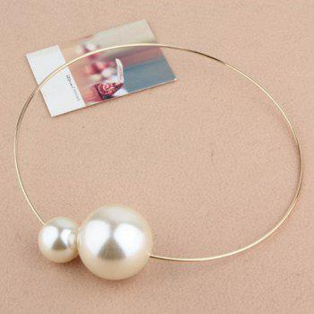 Simple Chic Big Faux Pearl Embellished Alloy Necklace For Women