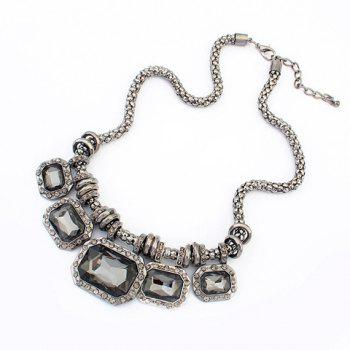 Retro Chic Faux Crystal Pendant Necklace For Women