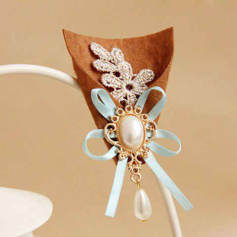 Cute Pearl Flower Bouquet Brooch For Women - COLORMIX
