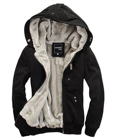 Sports Hooded Zipper Solid Color Long Sleeve Fleece Men's Hoodie zipper sports hoodie