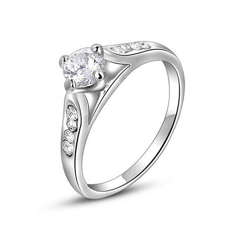 Rhinestone Prong Setting Ring - AS THE PICTURE ONE SIZE